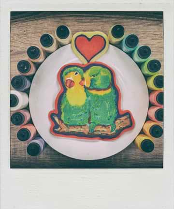 Love Birds Pancake Art